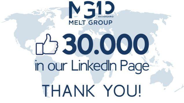 Mas de 30000 en LinkedIn