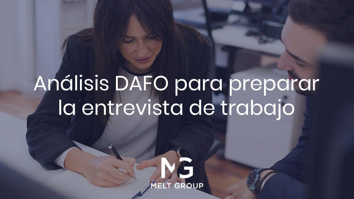 Análisis DAFO para preparar la entrevista de trabajo